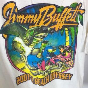 JIMMY BUFFETT 2001 A Beach Odyssey Tour T-Shirt
